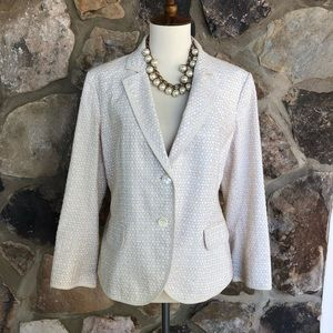 J Crew Cream and Beige blazer